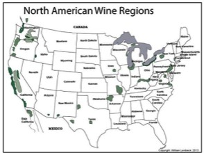 Wines By The Bottle - Us wine map